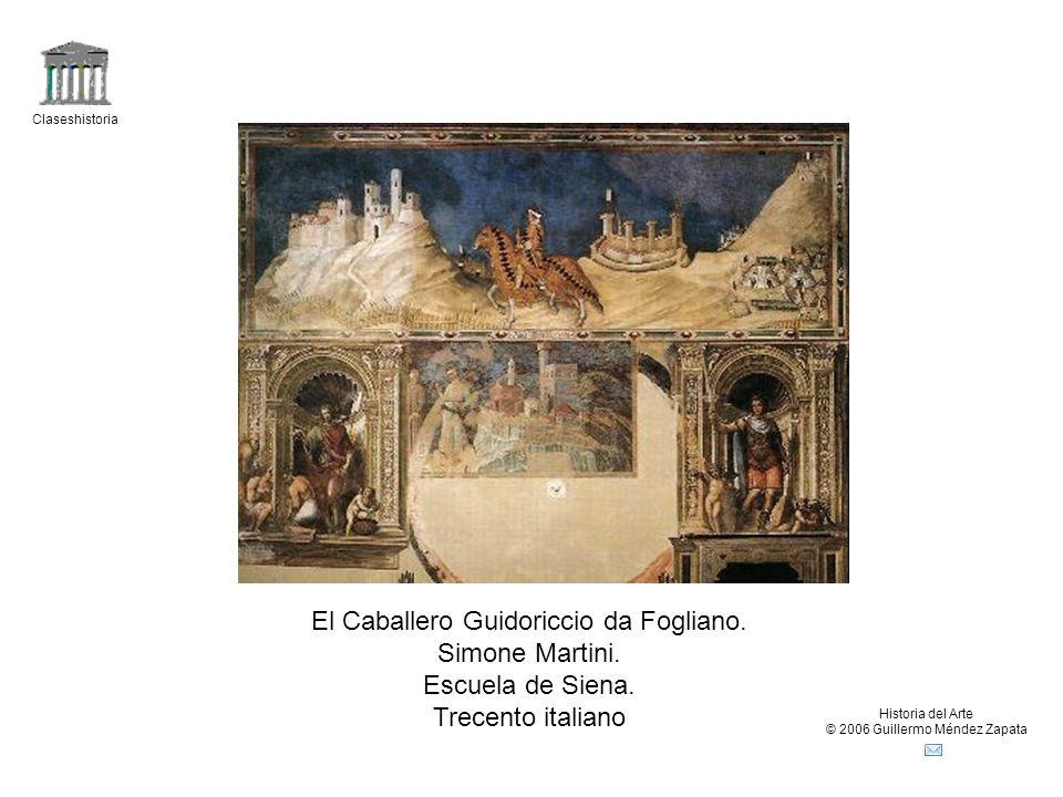 El Caballero Guidoriccio da Fogliano. Simone Martini.
