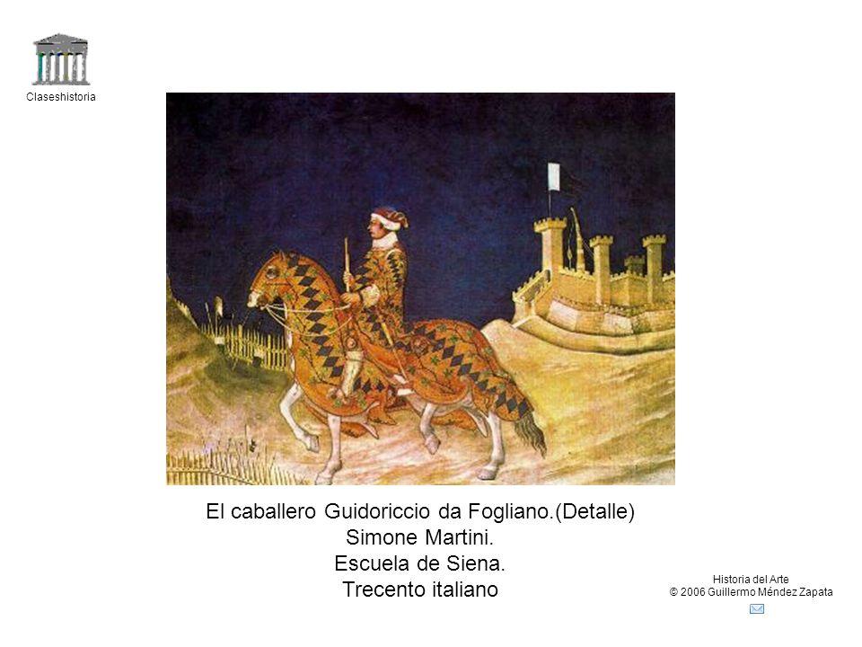 El caballero Guidoriccio da Fogliano.(Detalle) Simone Martini.