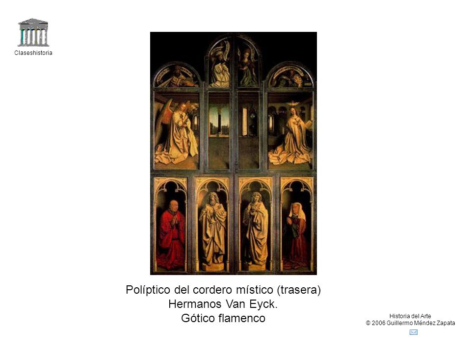 Políptico del cordero místico (trasera) Hermanos Van Eyck.