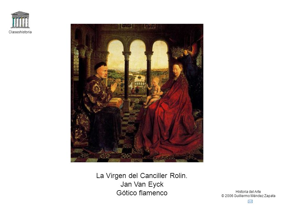 La Virgen del Canciller Rolin. Jan Van Eyck Gótico flamenco