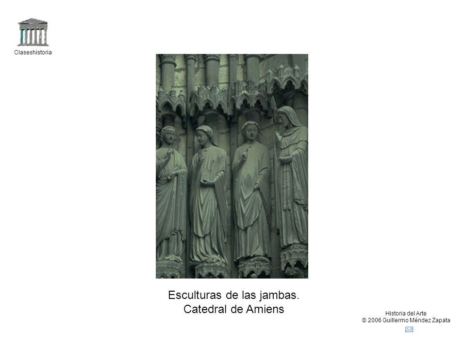 Esculturas de las jambas. Catedral de Amiens
