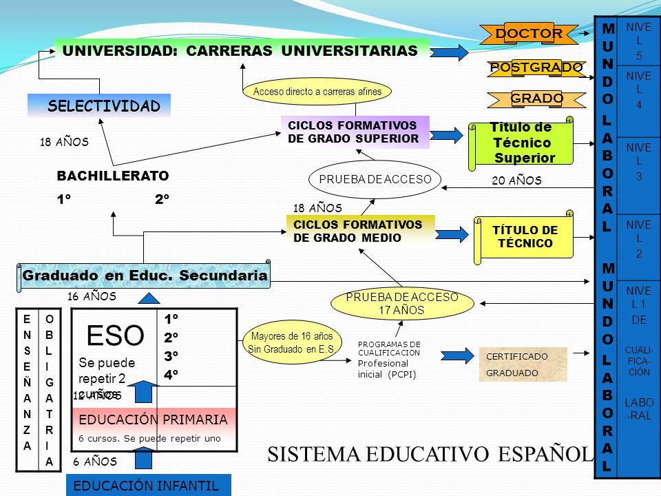 ESO SISTEMA EDUCATIVO ESPAÑOL doctor MUNDO