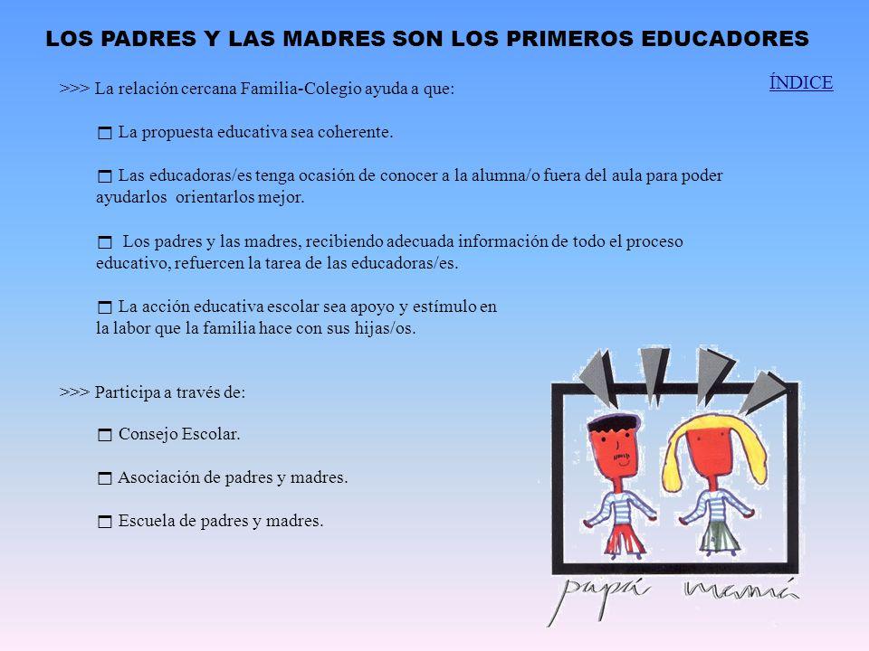 LOS PADRES Y LAS MADRES SON LOS PRIMEROS EDUCADORES