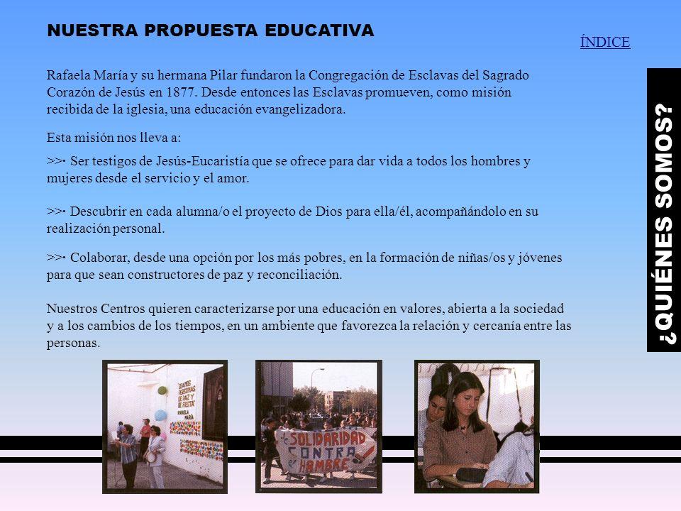 ¿QUIÉNES SOMOS NUESTRA PROPUESTA EDUCATIVA ÍNDICE