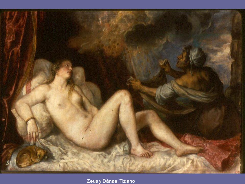 Zeus y Dánae. Tiziano