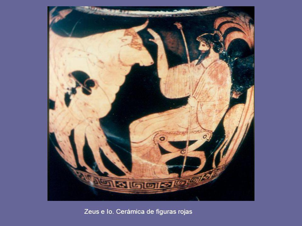 Zeus e Io. Cerámica de figuras rojas
