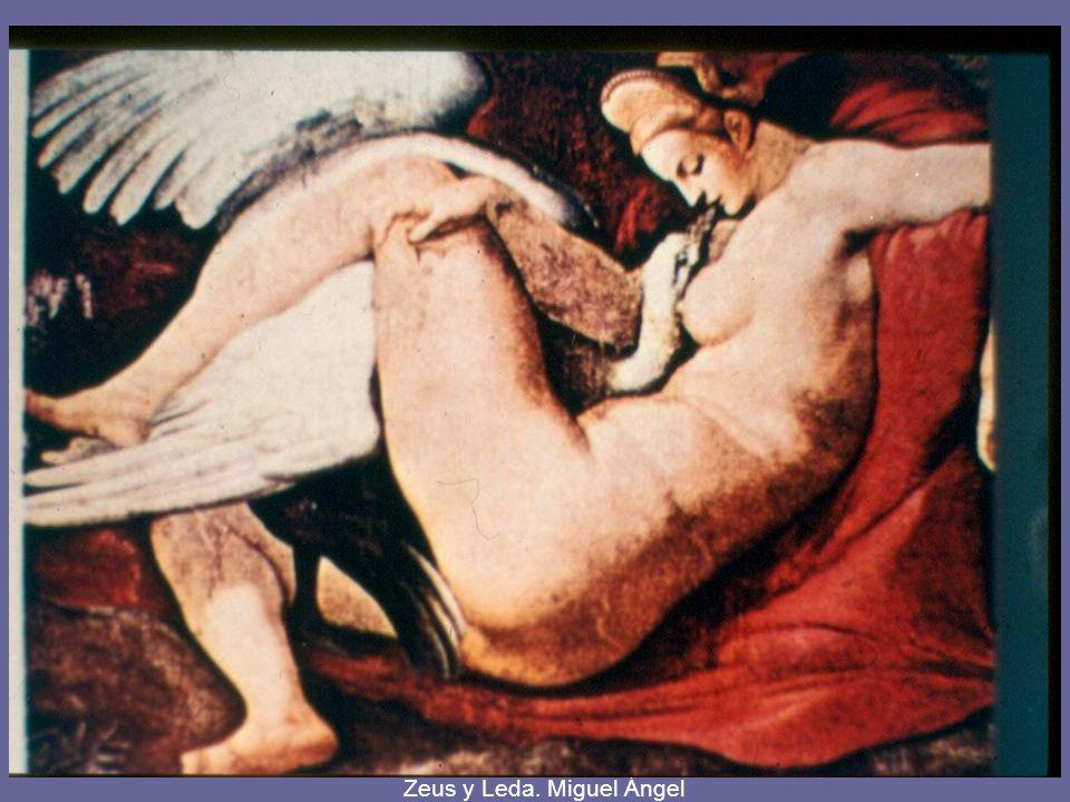 Zeus y Leda. Miguel Ángel