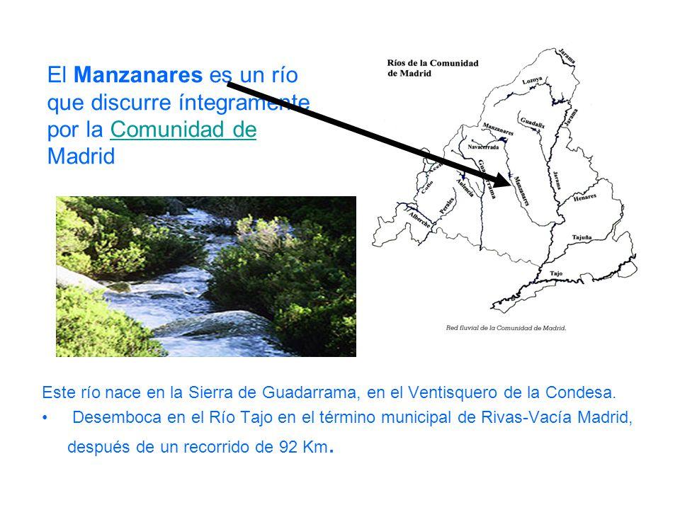 El Manzanares es un río que discurre íntegramente por la Comunidad de Madrid