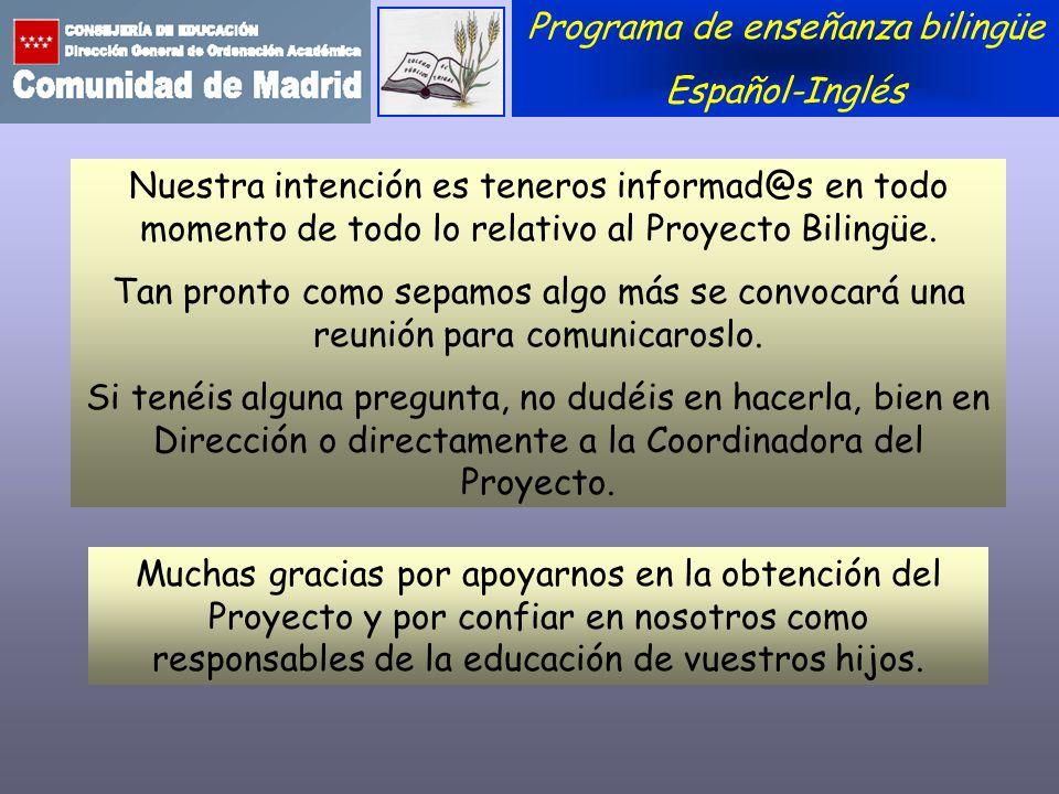 Programa de enseñanza bilingüe