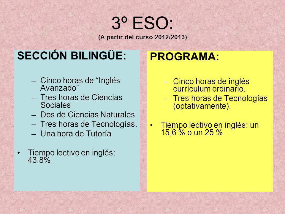 3º ESO: (A partir del curso 2012/2013)