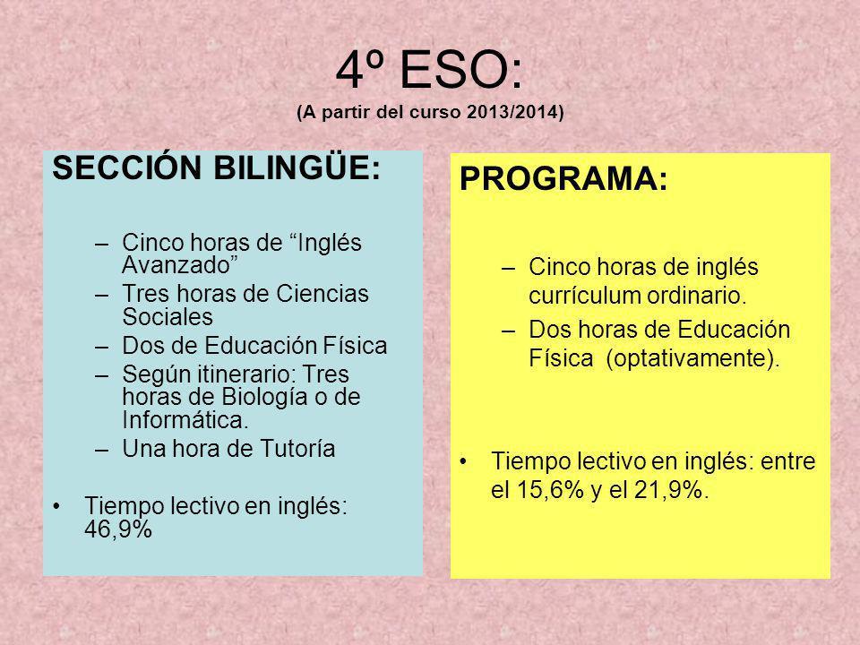 4º ESO: (A partir del curso 2013/2014)