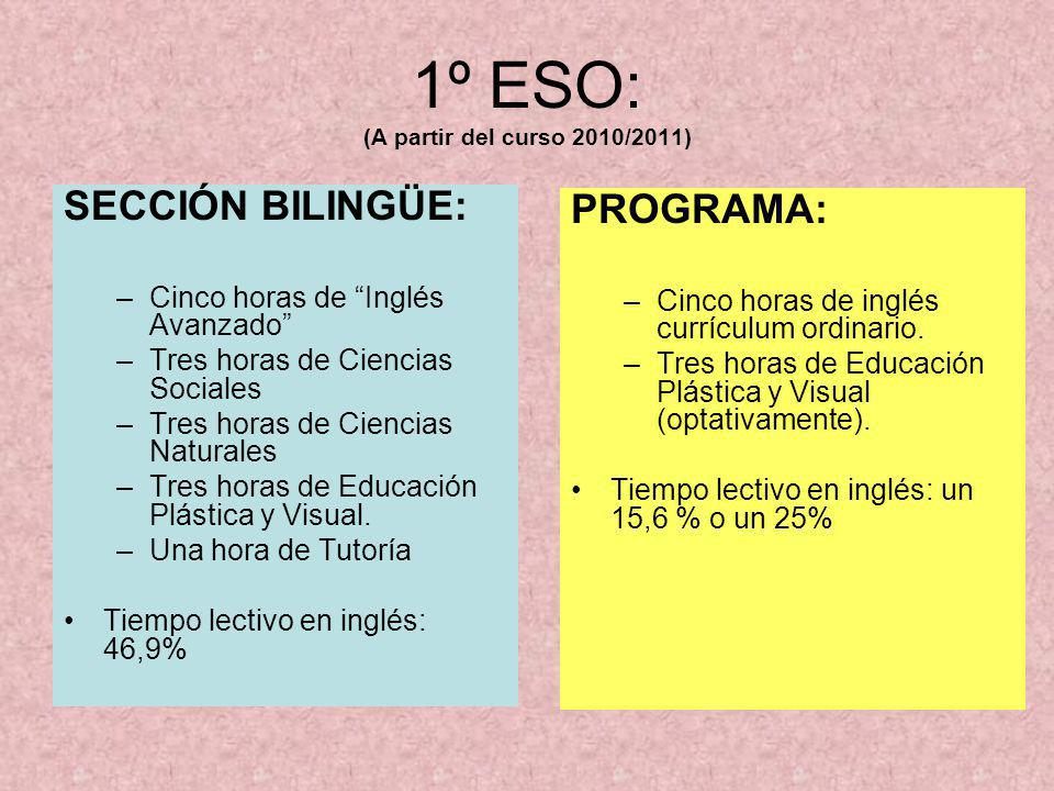 1º ESO: (A partir del curso 2010/2011)