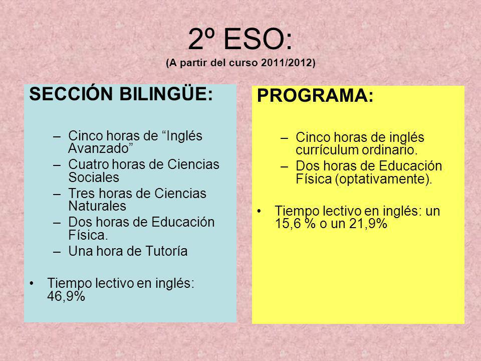 2º ESO: (A partir del curso 2011/2012)