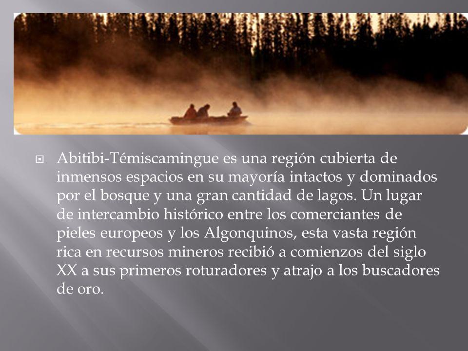Abitibi-Témiscamingue es una región cubierta de inmensos espacios en su mayoría intactos y dominados por el bosque y una gran cantidad de lagos.