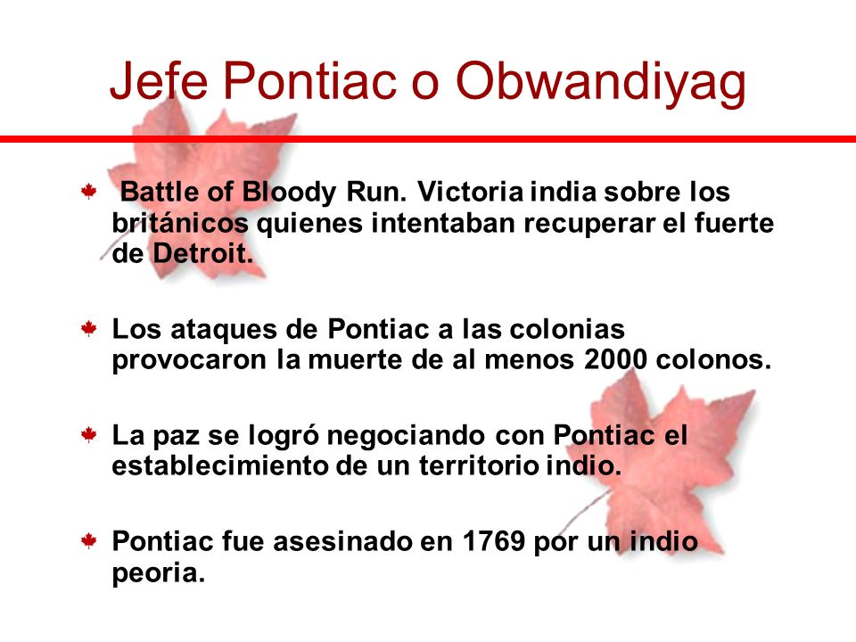 Jefe Pontiac o Obwandiyag