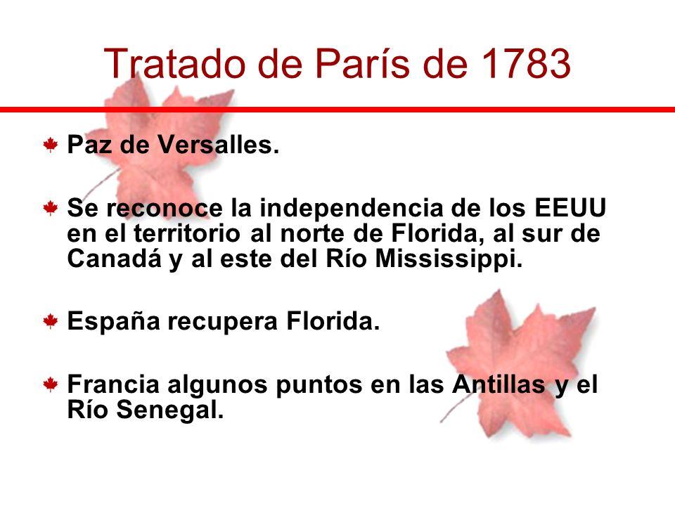Tratado de París de 1783 Paz de Versalles.