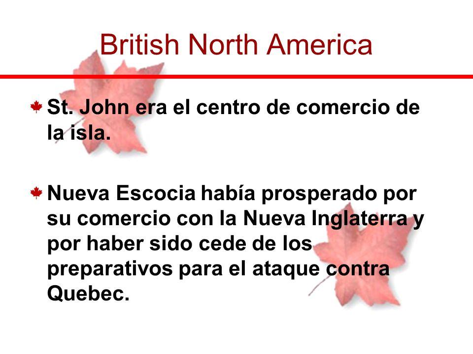British North America St. John era el centro de comercio de la isla.