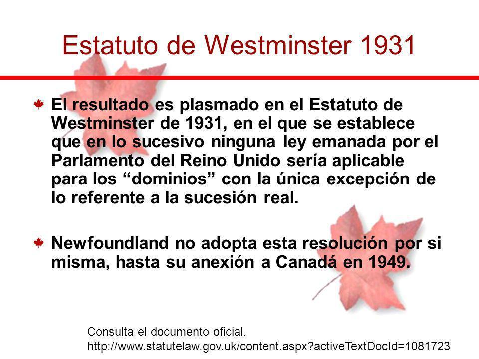 Estatuto de Westminster 1931