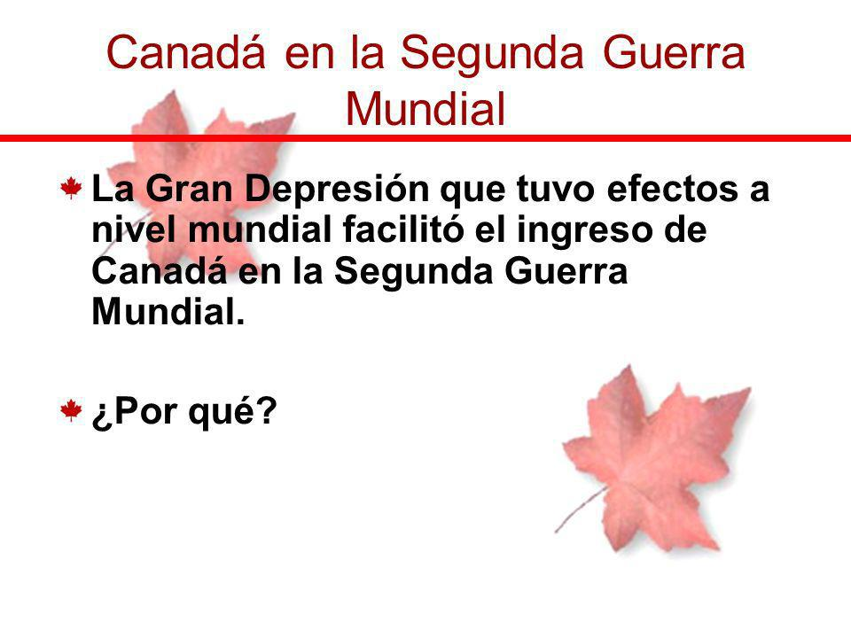 Canadá en la Segunda Guerra Mundial