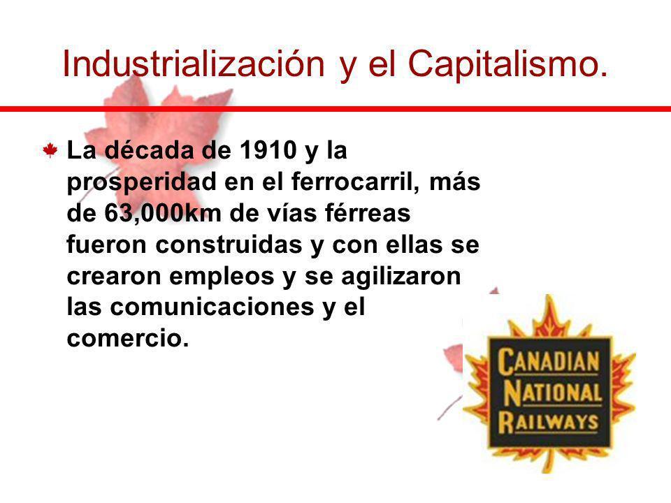 Industrialización y el Capitalismo.