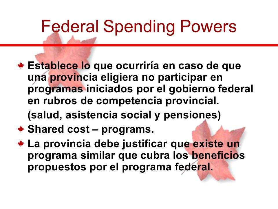 Federal Spending Powers