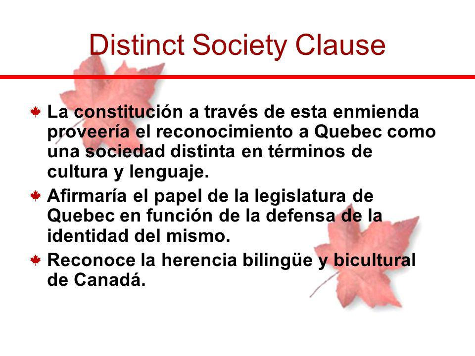 Distinct Society Clause