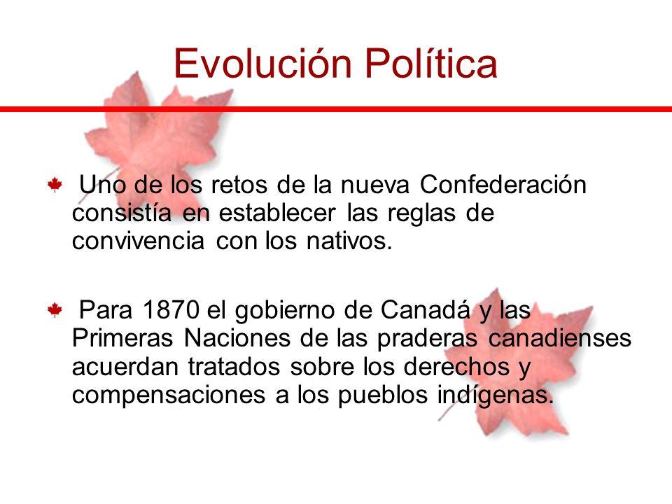 Evolución Política Uno de los retos de la nueva Confederación consistía en establecer las reglas de convivencia con los nativos.