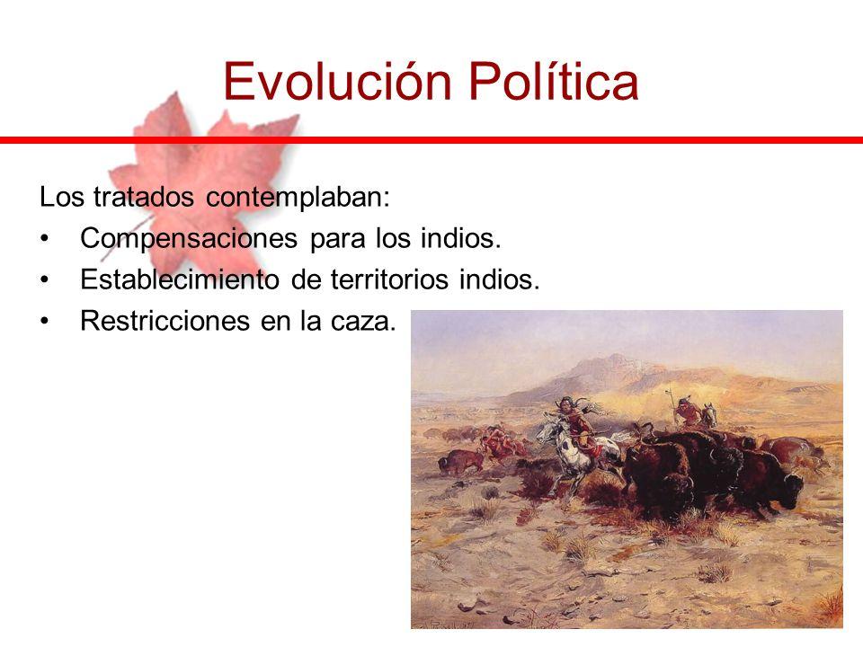 Evolución Política Los tratados contemplaban: