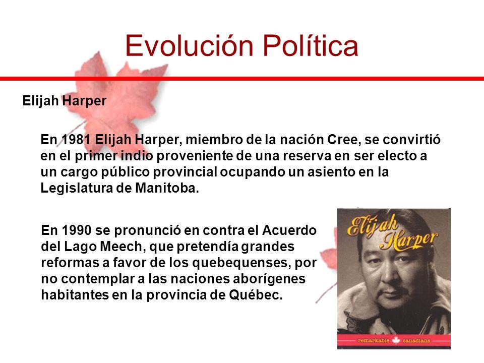 Evolución Política Elijah Harper