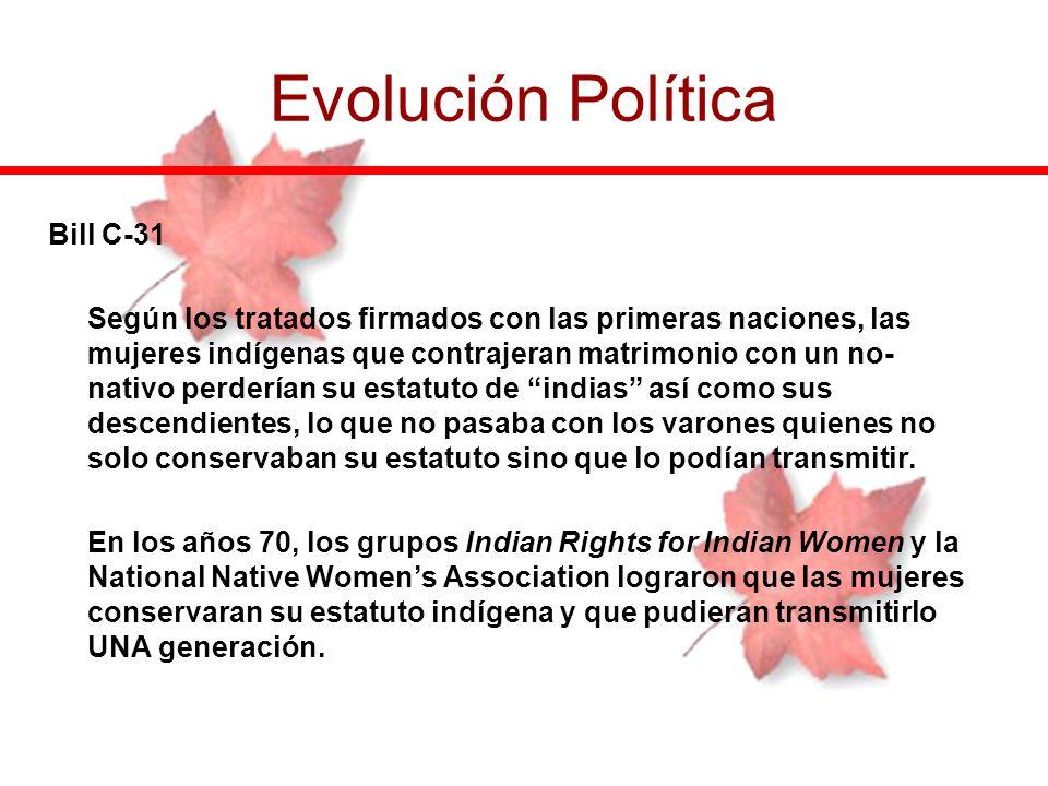 Evolución Política Bill C-31