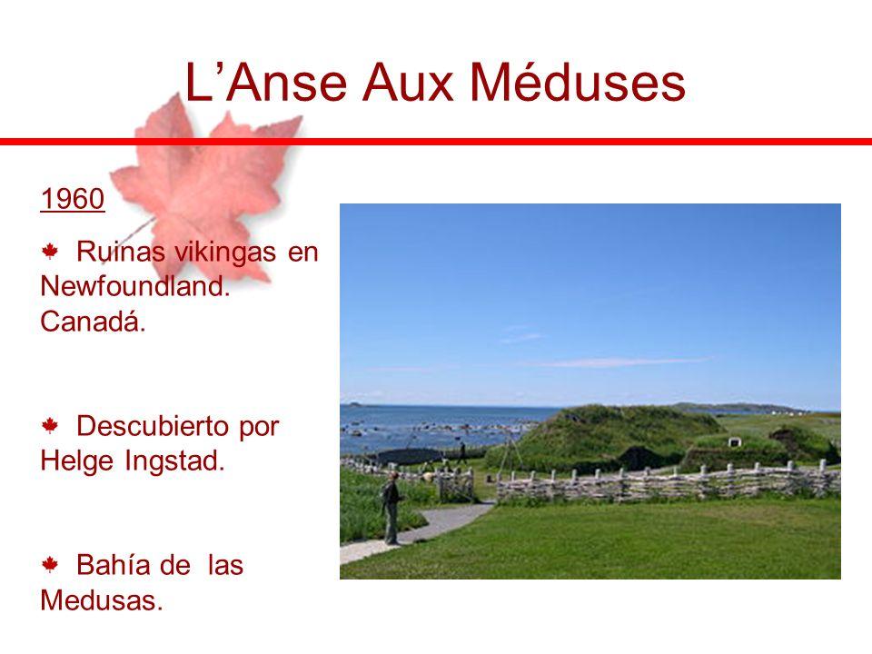 L'Anse Aux Méduses 1960 Ruinas vikingas en Newfoundland. Canadá.