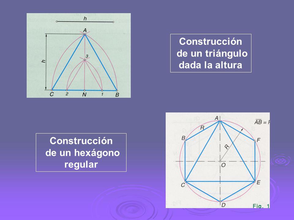 Construcción de un triángulo dada la altura