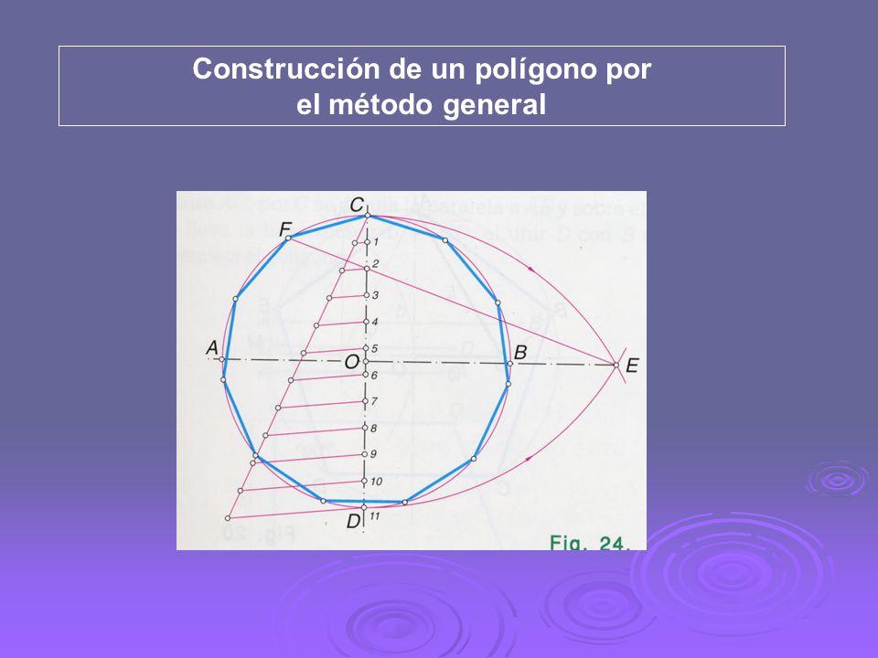Construcción de un polígono por el método general