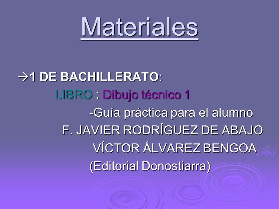 Materiales 1 DE BACHILLERATO: LIBRO : Dibujo técnico 1