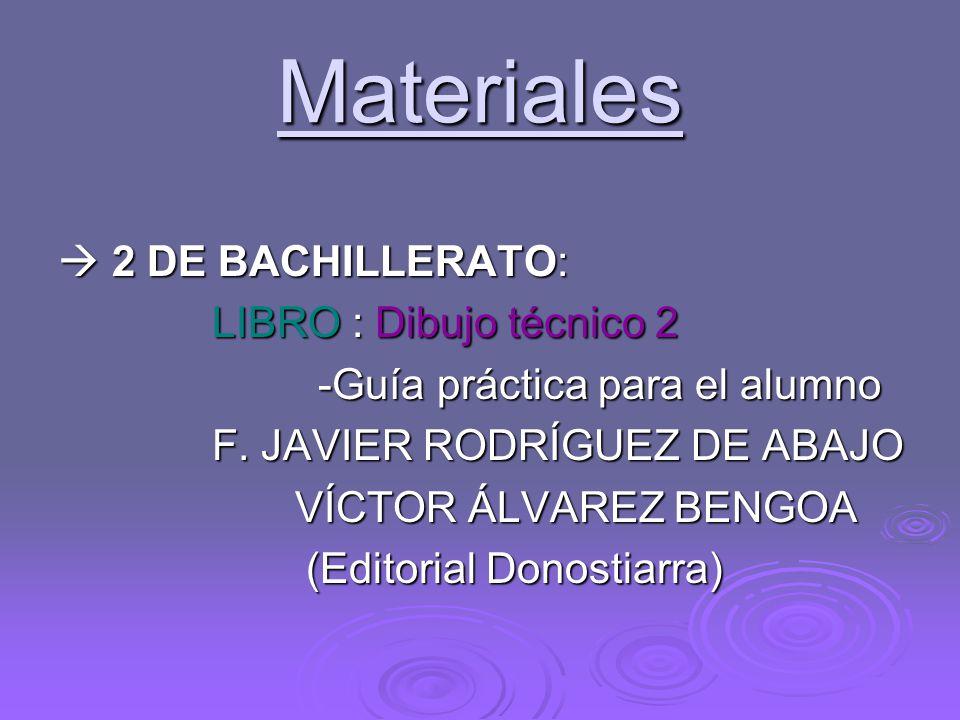 Materiales  2 DE BACHILLERATO: LIBRO : Dibujo técnico 2