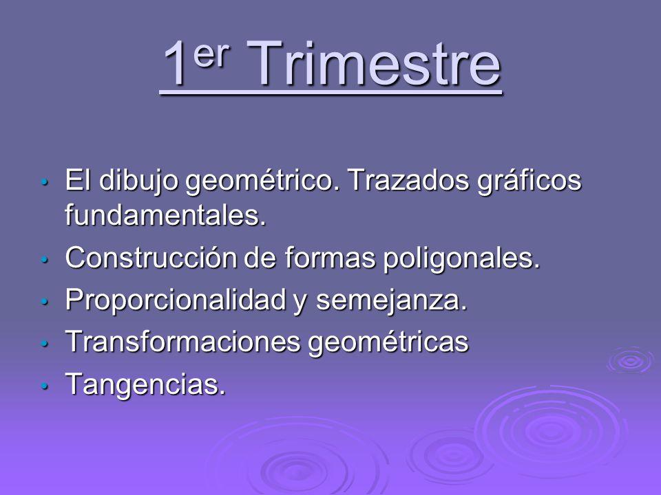 1er Trimestre El dibujo geométrico. Trazados gráficos fundamentales.