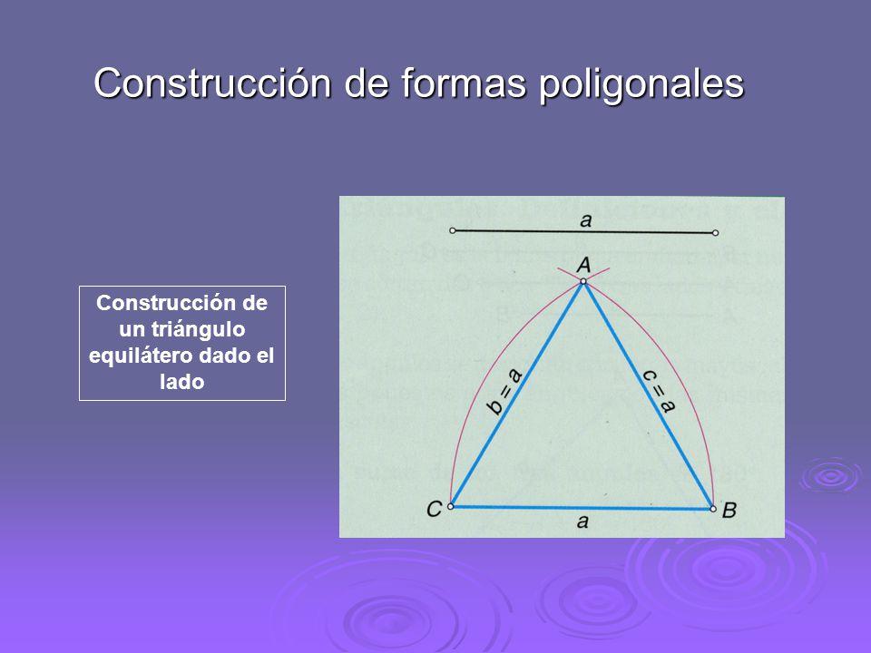 Construcción de un triángulo equilátero dado el lado