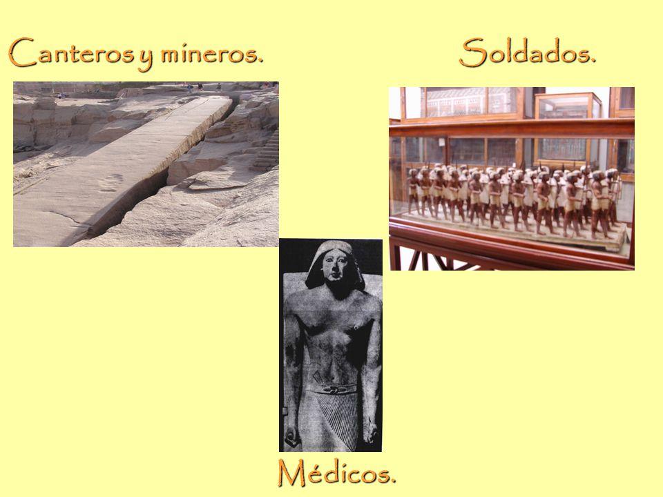 Canteros, mineros, soldados y médicos