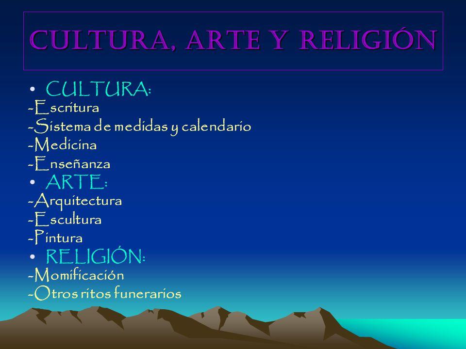 CULTURA, ARTE Y RELIGIÓN