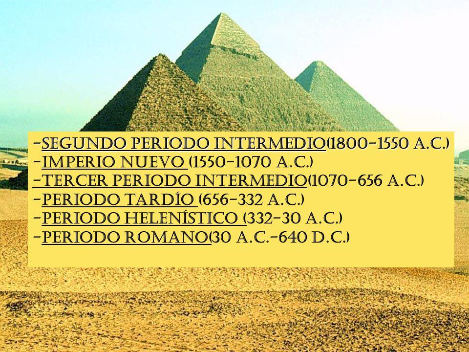 Periodos -Segundo periodo intermedio(1800-1550 a.C.)