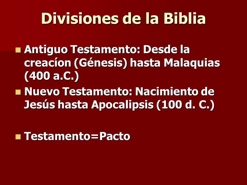 Divisiones de la Biblia