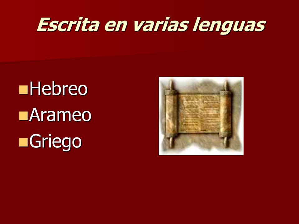 Escrita en varias lenguas