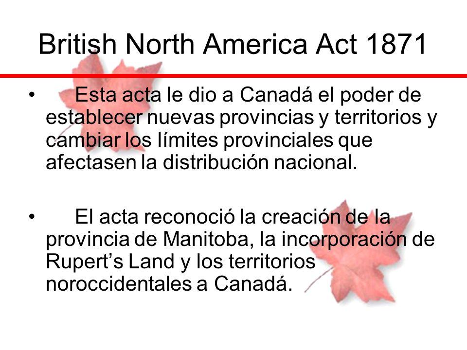 British North America Act 1871