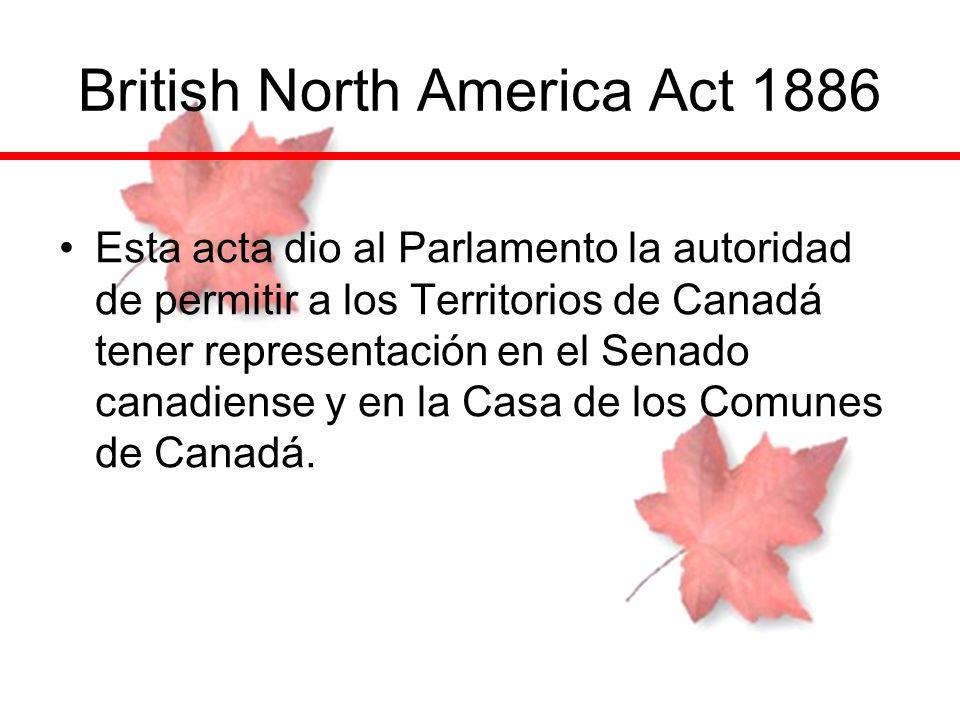 British North America Act 1886