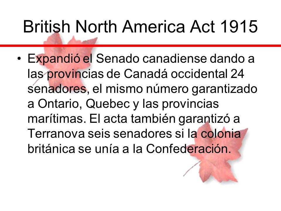 British North America Act 1915