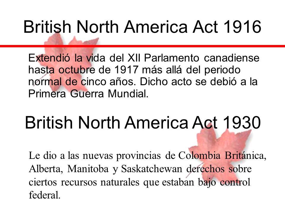 British North America Act 1916