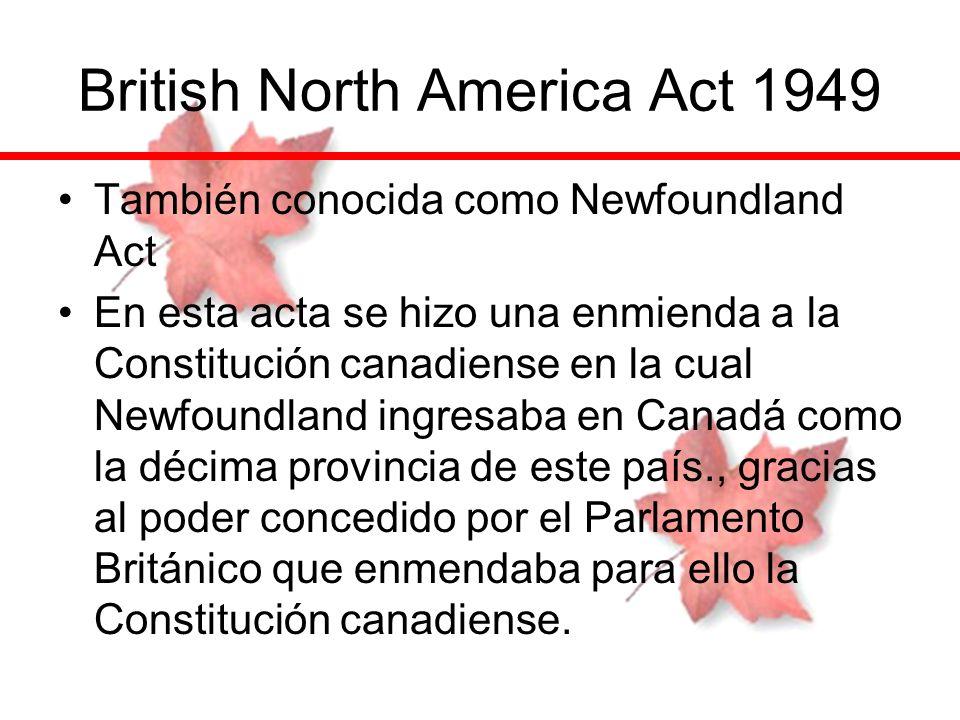 British North America Act 1949