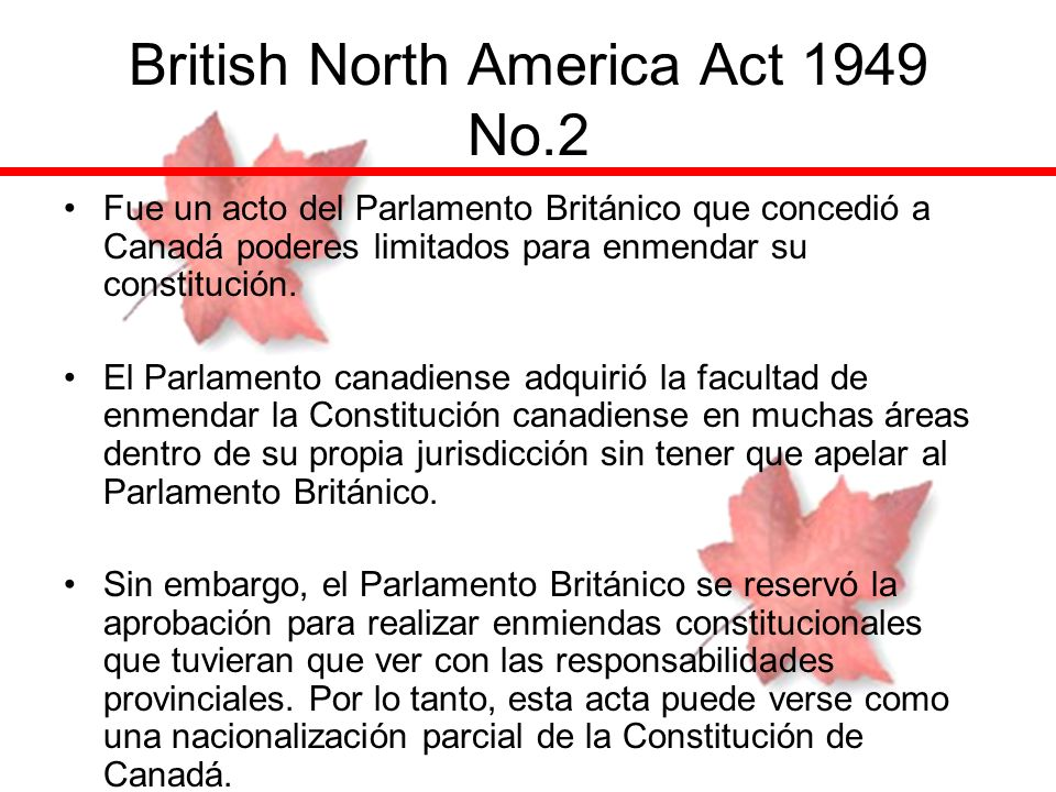 British North America Act 1949 No.2