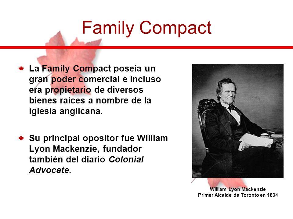 William Lyon Mackenzie Primer Alcalde de Toronto en 1834