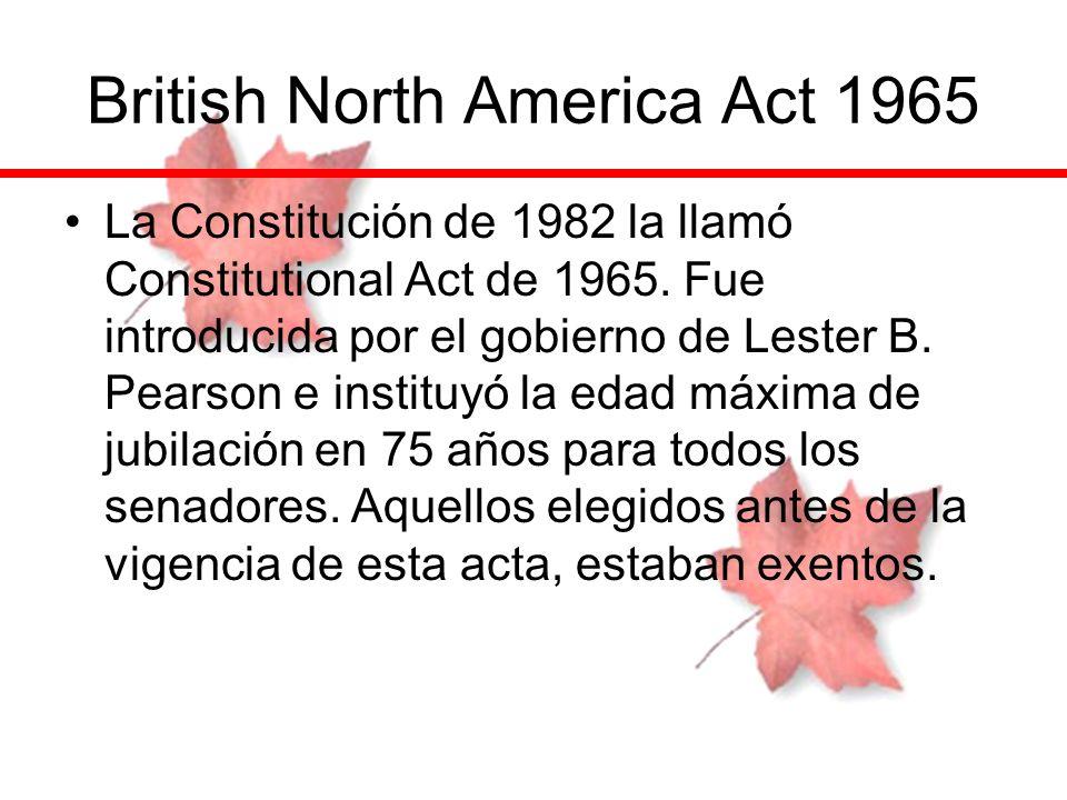British North America Act 1965